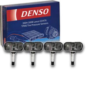 4 pc Denso Tire Pressure Monitoring System Sensors for 2004-2008 Lexus GX470 gb