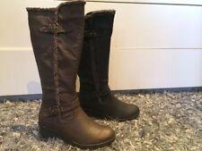 Zip Synthetic Wedge Knee High Women's Boots