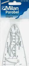 Milan Parabel Parabelschablone Einheitsparabel mit Tuschekante  Art.-Nr.550