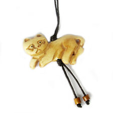 Tibetan Bone Lovely Cat Pendant Bead