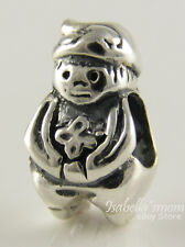 GNOME Fairytale STERLING SILVER 925 European GARDEN Charm/Bead NEW w FREE GIFT