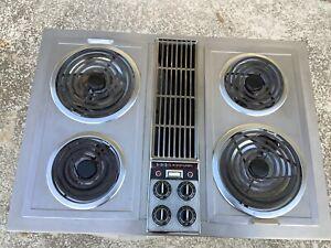 jenn air c221 stainless downdraft cooktop