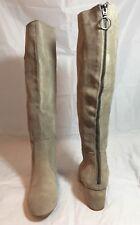 Steve Madden Haydun Block Heel Tall Boots, Taupe Suede Size 10M