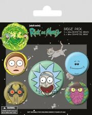 Rick and Morty pack 5 badges Heads badge pack Rick and Morty 806150