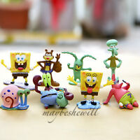 SpongeBob SquarePants Figure 8 pcs Doll Set SpongeBob Patrick Star Kids Toy Set