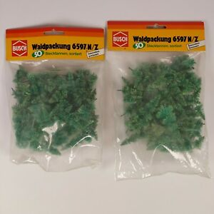 Busch Z Scale 6597 Tree Greenery 2 Bags (100pc total) NEW Vintage