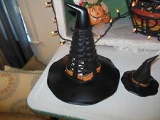 Longaberger Full Sized & Mini Witch Hat Baskets Black & Orange Trim Halloween!