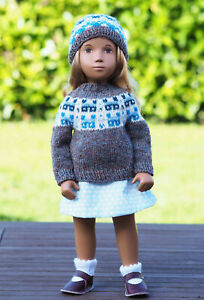Sasha Doll Blue Hour Cottages Sweater and Hat by Rosie