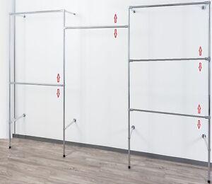 begehbarer Kleiderschrank Kleiderstange Kleiderständer Garderobenzimme  Art W.13