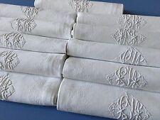 Grandes serviettes Damas de lin Mono C-M sur 11 pièces 1233 Bis /79-7 Lot B