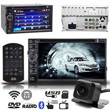 In Dash Car Radio No GPS Navigation System Bluetooth CD DVD FM Player USB+Camera