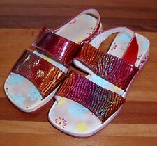 ANDANINES GIRLS RED SANDALS / SHOES SZ 30 EURO OR 11.5 AUS