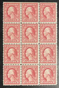 TDStamps: US Stamps Scott#463 Mint NH OG Block of 12