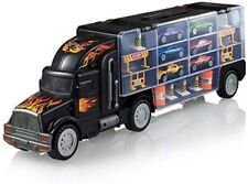GIFT DEPOT® TM Toy Truck Transport Car Carrier Include 6 Cars 28 Toy Car Slots
