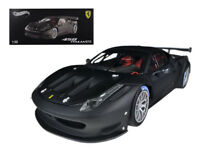1/18 Hot Wheels Ferrari 458 Italia GT2 Elite Edition Diecast Matte Black BCK09