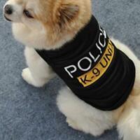 Cute Dog Cat Vest Police Puppy T-Shirt Coat Pet Clothes Summer Apparel Costumes