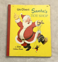 Walt Disney's Santa's Toy Shop 1950 Vintage Little Golden Book