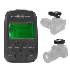 Flash Trigger VC-818TX E-TTL Flash Trigger Wireless 2.4G Wireless Transmitter