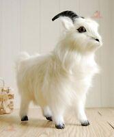 White Standing Goat Plush Stuffed Animal Doll Toys Kids Birthday Gift Home Decor
