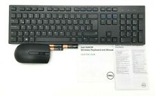 Dell Spanish Wireless Keyboard Mouse and Dongle Set KM636-BK-LTN *NOB*