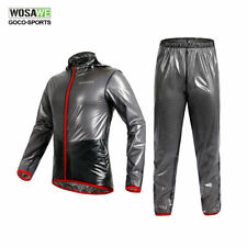 Cycling Rain Coat Waterproof Jacket Pants Outdoor Sports Long Sleeve Jerseys Men