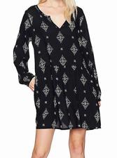 b5fd8c6f6 ROXY Sunkissed Daze Long Sleeve Dress ERJWD03152 M Anthracite Tribal Voice
