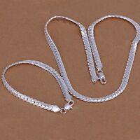 Halskette Armband Schmuckset 925er Silber plt und gestempelt Edel (Set3)