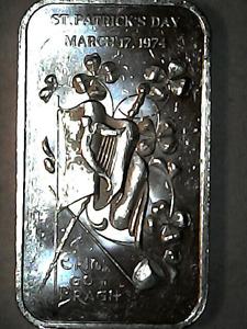 ST PATRICKS DAY Theme ● Silver Bar ● One Troy Ounce ● .999 Fine