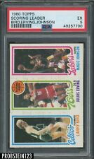 1980 Topps Basketball Larry Bird Magic Johnson RC Rookie Julius Erving HOF PSA 5