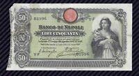 Banconota 50 Lire Banco di Napoli 22/10/1903  R2