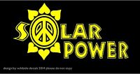 Solar Power Environmental Decal Peace Flower Car Window Sticker