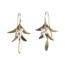 Michael Michaud - Flowering Myrtle Earrings w/ Pearls - Silver Seasons Jewelry