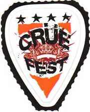 Motley Crue Fest Concert Tour Music Promo Guitar Pick Shaped Sticker Lot of 2