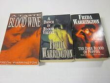 Freda Warrington Taste Of Blood Wine Dark Blood Poppies A Dance In Blood Velvet