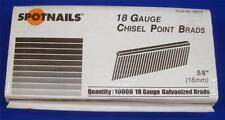 "SpotNails #18010 5/8"" Chisel Point Brads 18 Gauge Galvanized"