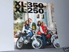 1976 Honda XL250 / XL350 DIRT BIKE Motorcycle Sales Brochure - Literature