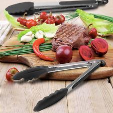LARGE JUMBO STAINLESS STEEL SALAD TONGS BBQ Kitchen Cooking Food Serving Utensil