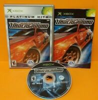 Need For Speed Underground Racing Microsoft XBOX OG Rare Game Tested Complete `