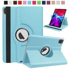 "For iPad 10.2"" 9.7"" Pro 12.9"" 11"" Air Mini 360 Rotating Leather Stand Smart Case"