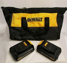 2X Dewalt DCB207 20V Max 1.3Ah 2.6Wh Lithium-Ion Battery & Carry Tote