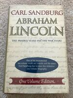 Abraham Lincoln by Carl Sandburg 1 Volume Edition from GEN Wedemeyer's library