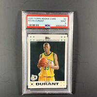 2007 Topps Rookie Card Kevin Durant #2 PSA 9 MINT