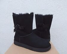 UGG BLACK CLASSIC KNOT SUEDE/ SHEEPSKIN BOOTS, WOMENS US 6/ EUR 37 ~NEW IN BOX