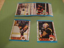 1989/90 O-Pee-Chee OPC Vancouver Canucks Team Set Trevor Linden