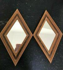 Mcm Mirrors Diamond Shaped Wall Hanging Vintage Retro