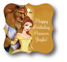 24 Beauty and the Beast Personalized Birthday Party Favor Tags with Belle