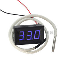 Digital Thermometer Temperature Test Meter Blue Display /w K Type Thermocouple