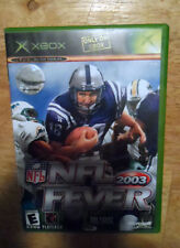 X-BOX NFL FEVER GAME -2003 -GAME + CASE + ORIGINAL BOOK