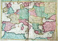 C1720 Europe Europe vivacité cuivre clés-carte du monde Dankert