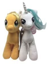 "Pair My Little Pony Celestial Unicorn Applejack Plush Toy Stuffed Animal 10"" MLP"